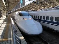 新幹線。私達が乗った車両ではありませんが・・・。